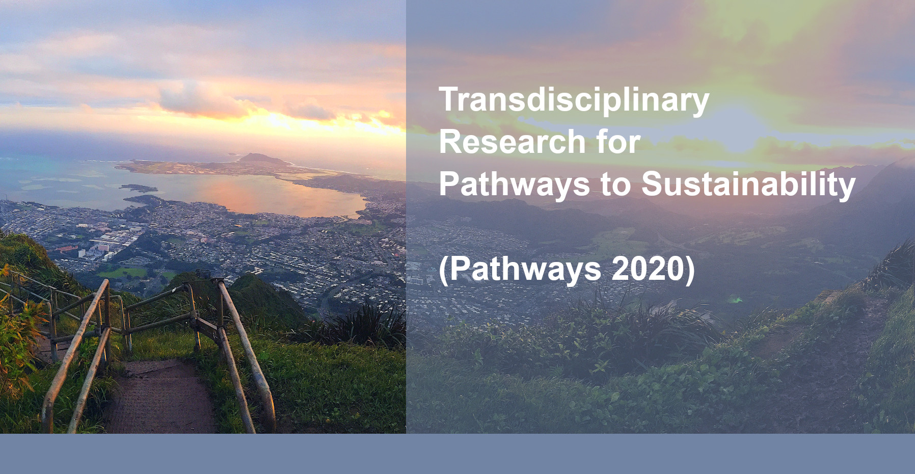 "Banner for the Belmont Forum Call for Proposals ""Pathways 2020""."