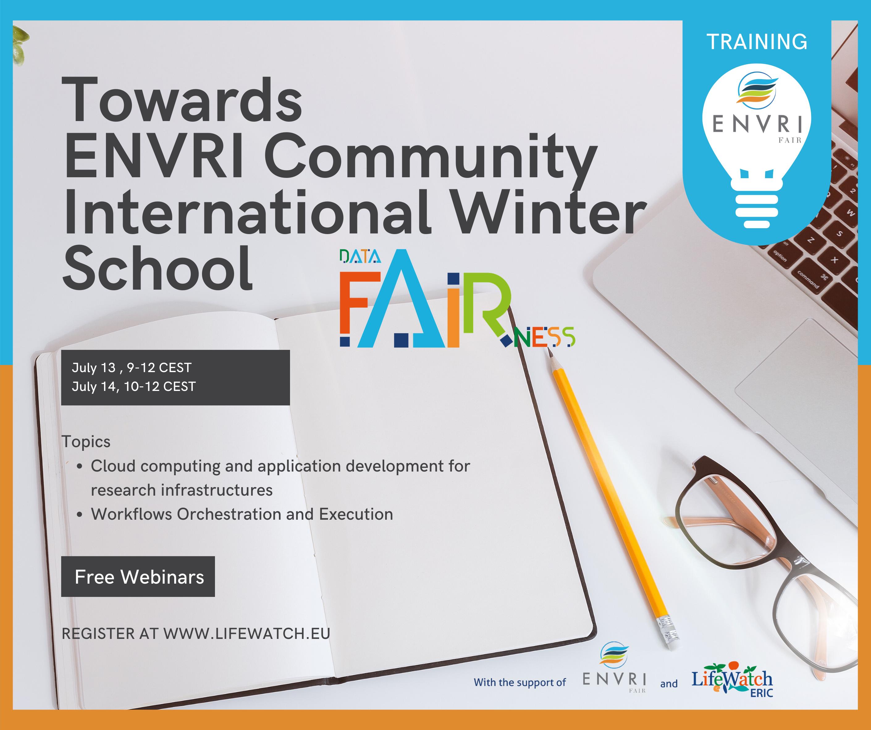 Towards ENVRI Community International Winter School webinar banner