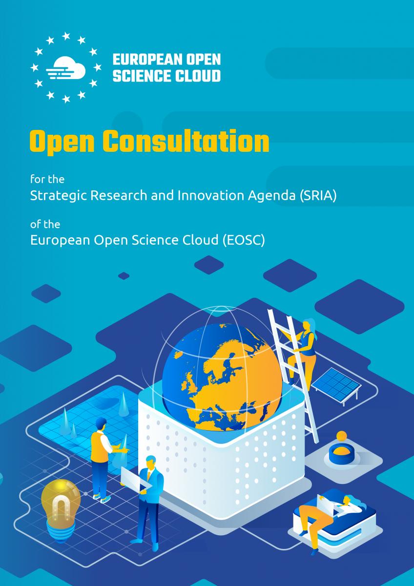 EOSC SRIA open consultation poster image.