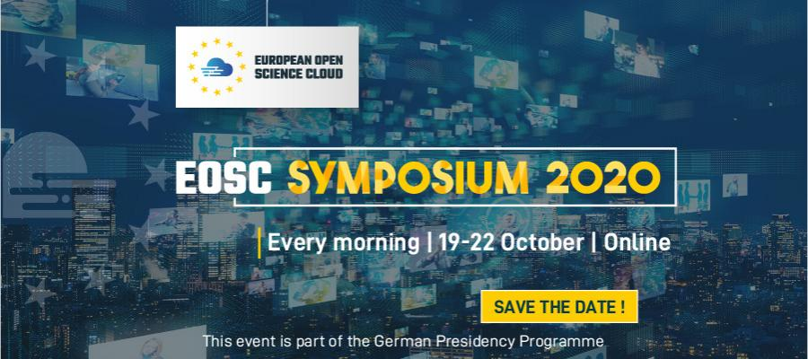 Banner containing the dates for the EOSC Symposium 2020.